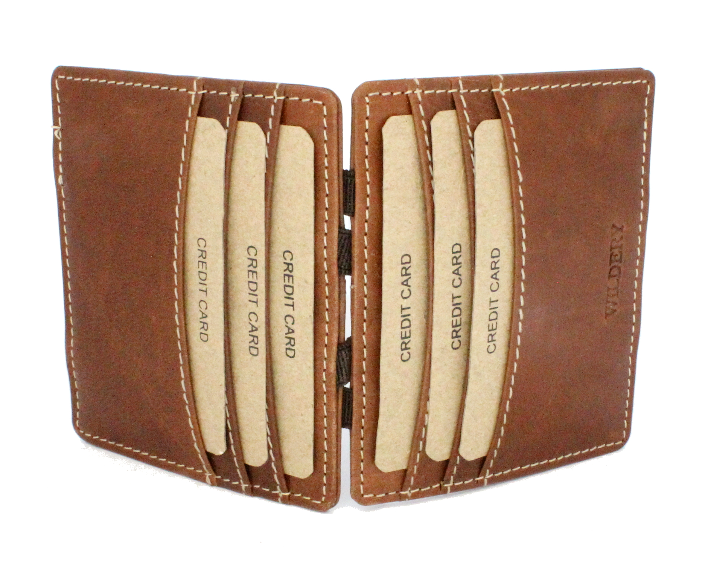 Wildery Magic Wallet bzw. Kreditkarten Etui aus hochwertigem echt Leder