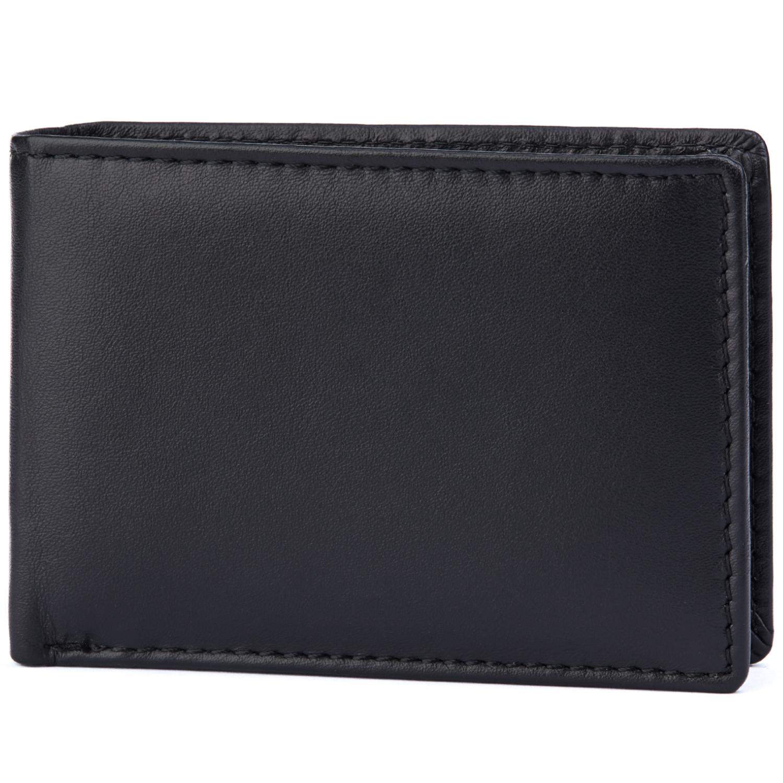 Kleine echt Leder Geldbörse mit Münzfach, Gelfscheinfach und Kreditkartenfach