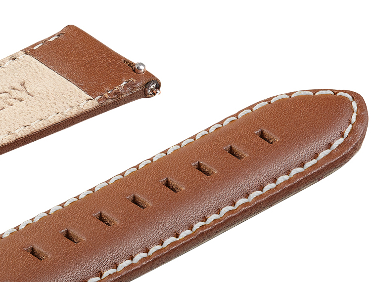 Wildery Leder Armband für Samsung Gear S2/S3 und Galaxy Watch 42mm, 46mm, Active und Active2 in beige/weiß