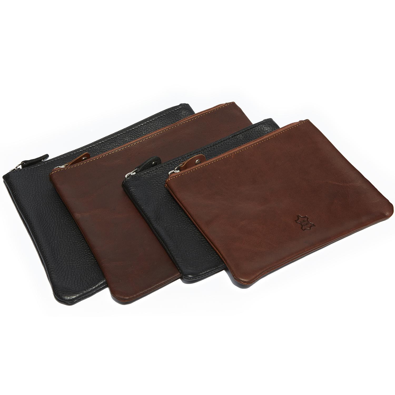 Echt Leder Dokumententasche bzw. Banktasche oder auch als Geldtasche, Belegtasche verwendbar