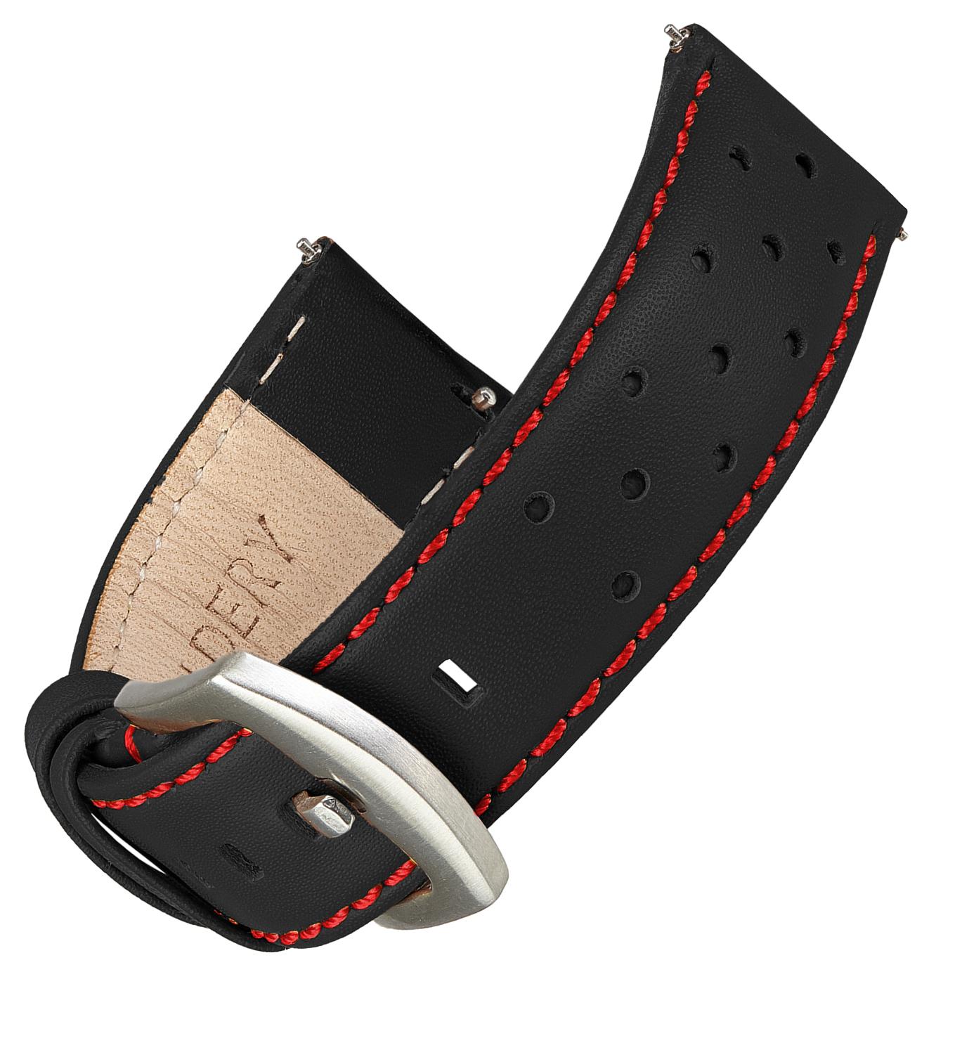 Wildery Leder Armband für Samsung Gear S2/S3 und Galaxy Watch 42mm, 46mm, Active und Active2