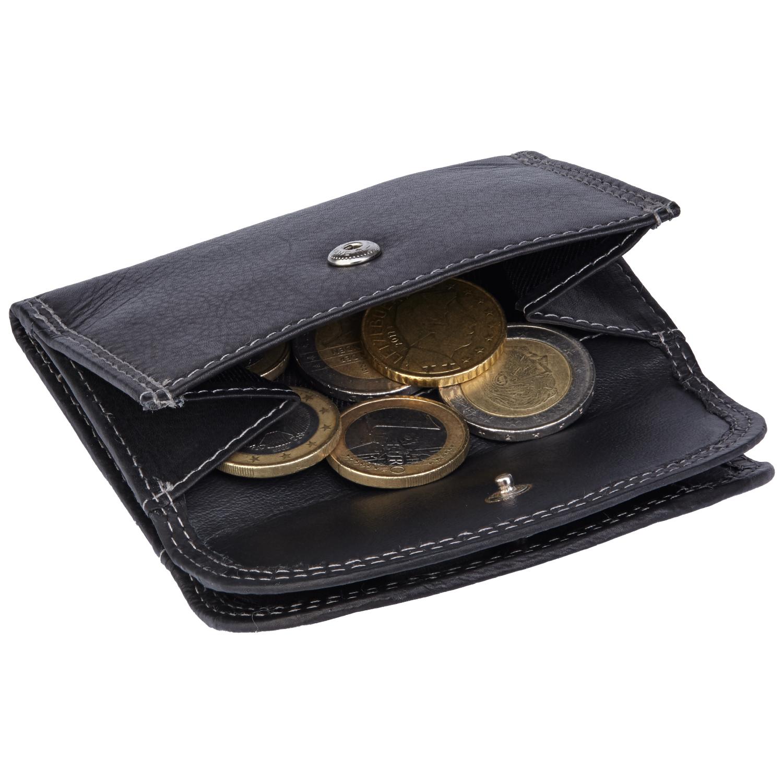 Mini echt leder Gelbörse mit Münzfach und Geldscheinfach