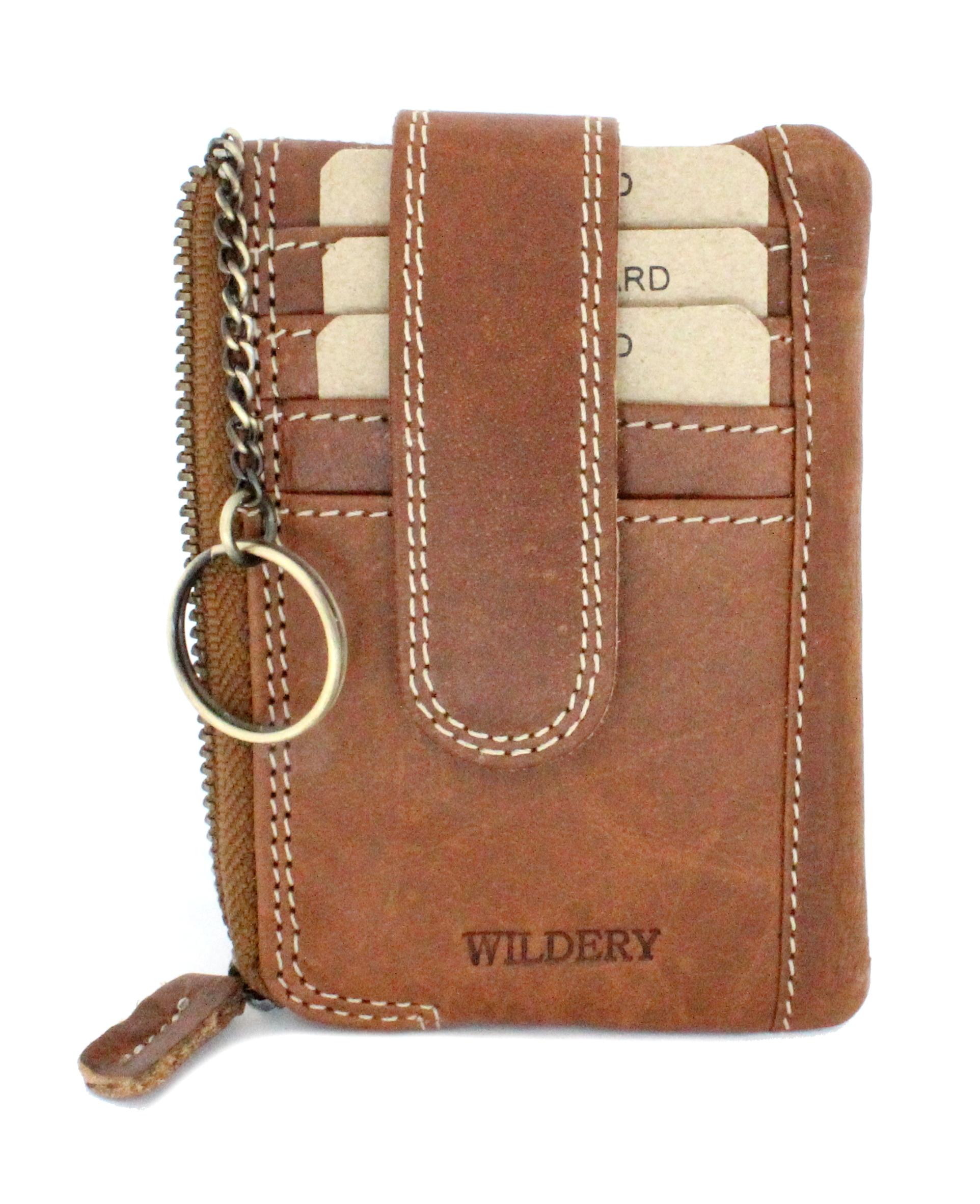 Schlüsseletui bzw. Kartenetui aus echt Leder für Herren und Damen mit Reißverschluß