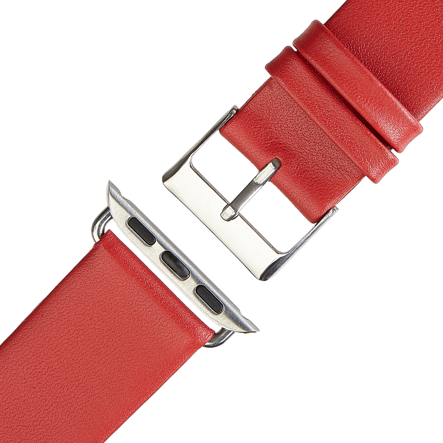 Wildery Leder Armband für Apple Watch Series 1/2/3 und 4/5 in rot