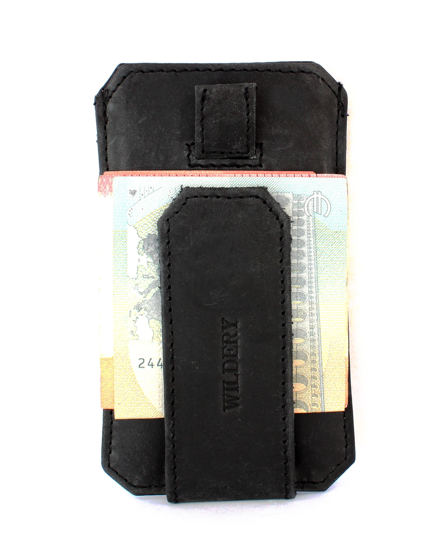 Vintage Leder Kreditkarten-Etui mit RFID/NFC Schutz und Geldklammer